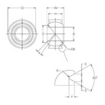 25 mm x 54 mm x 25 mm  NMB MBW25VCR plain bearings