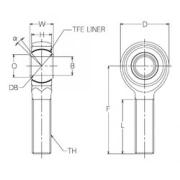 16 mm x 39 mm x 16 mm  NMB HRT16E plain bearings