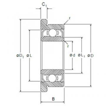7 mm x 22 mm x 7 mm  NMB RF-2270HH deep groove ball bearings