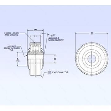 9,525 mm x 36,5125 mm x 9,525 mm  NMB ASR6-1A spherical roller bearings