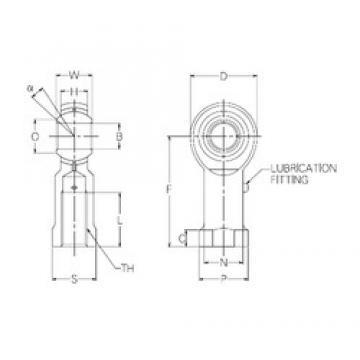 20 mm x 46 mm x 20 mm  NMB PR20 plain bearings