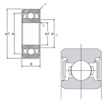 6,35 mm x 15,875 mm x 4,978 mm  NMB R-4DD deep groove ball bearings