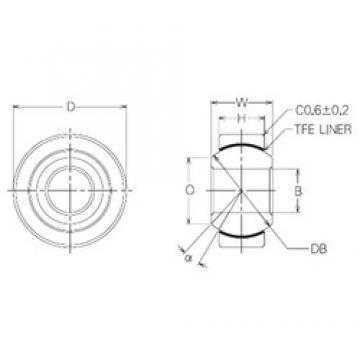 14 mm x 34 mm x 14 mm  NMB SBT14 plain bearings
