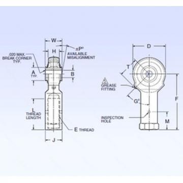 9,525 mm x 42,164 mm x 9,525 mm  NMB ARR6FFN-A spherical roller bearings
