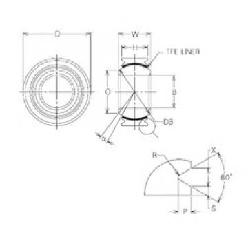 10 mm x 21 mm x 10 mm  NMB MBT10V plain bearings