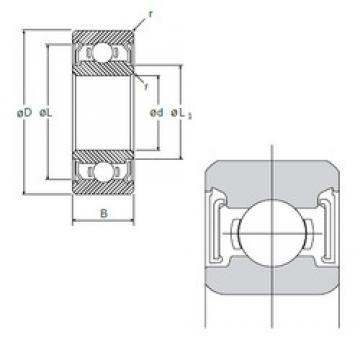 12 mm x 21 mm x 5 mm  NMB L-2112SS deep groove ball bearings