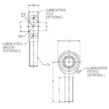 17 mm x 41 mm x 17 mm  NMB HR17E plain bearings