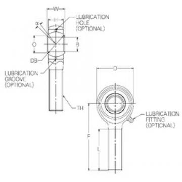 5 mm x 20,5 mm x 5 mm  NMB HR5E plain bearings