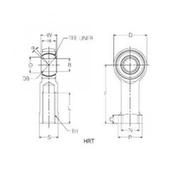 14 mm x 36 mm x 14 mm  NMB HRT14 plain bearings