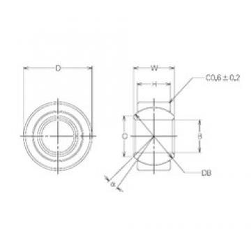 22 mm x 41 mm x 22 mm  NMB MBW22CR plain bearings