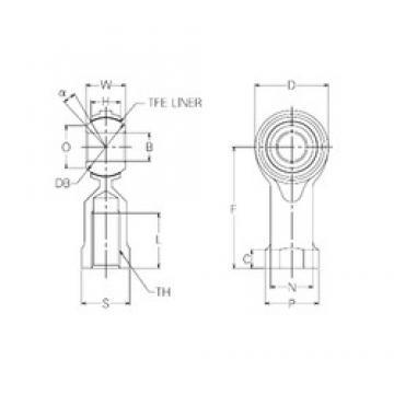 22 mm x 50 mm x 22 mm  NMB RBT22 plain bearings