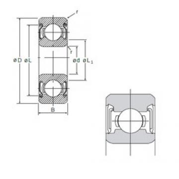 7 mm x 22 mm x 7 mm  NMB 627DD deep groove ball bearings