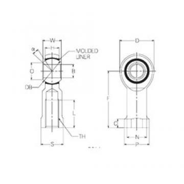 5 mm x 16 mm x 5 mm  NMB RBM5 plain bearings