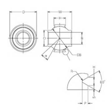 22 mm x 44 mm x 22 mm  NMB MBY22VCR plain bearings