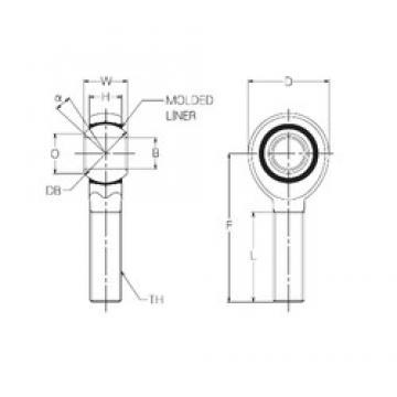 6 mm x 18 mm x 6 mm  NMB RBM6E plain bearings