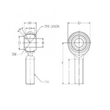 22 mm x 50 mm x 22 mm  NMB RBT22E plain bearings