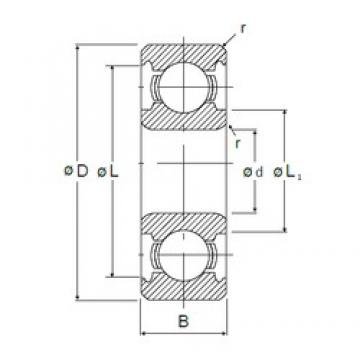 8 mm x 22 mm x 7 mm  NMB 608 deep groove ball bearings