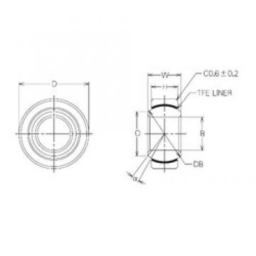 28 mm x 50 mm x 28 mm  NMB MBT28 plain bearings