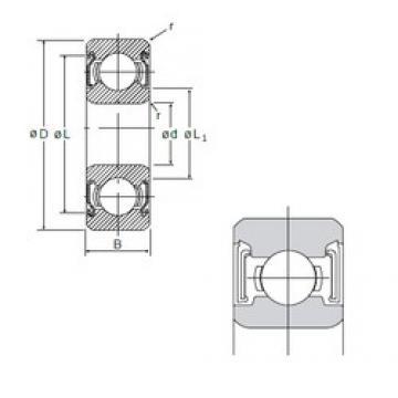 8 mm x 22 mm x 7 mm  NMB 608SS deep groove ball bearings